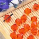 Beads, Auralescent Crystal, Crystal, Red orange , Faceted Bicones, 6mm x 6mm x 5mm, 10 Beads, [ZZC185]